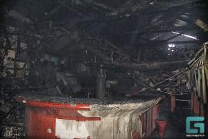 Один из сгоревших клубов