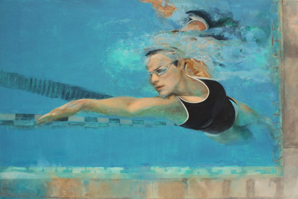 swim and water 150x100 cm