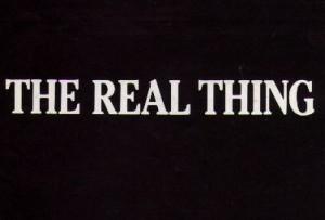 real thing