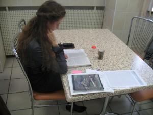 Учёба в журфаковской столовой БГУ