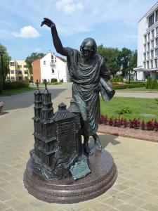 Скульптура Зодчий у Столицы в Минске