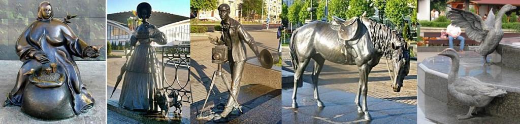 Скульптуры у Комаровского рынка в Минске