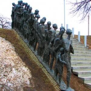 Памятник расстрелянным евреям Яма в Минске