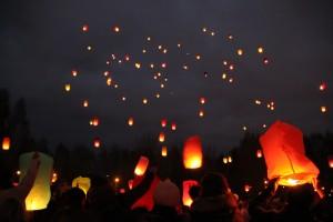 запуск небесных фонариков, Минск, пл. Бангалор