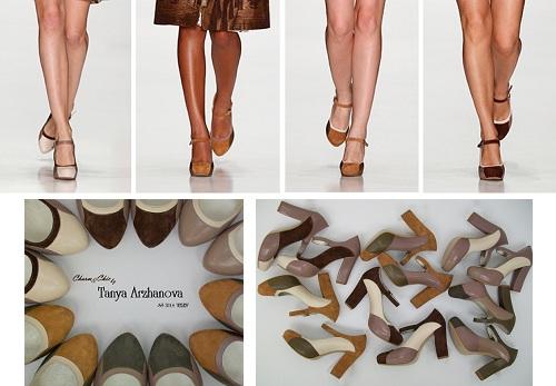дизайн туфель модели Мэри Джейн от Тани Аржановой для своей новой коллекции