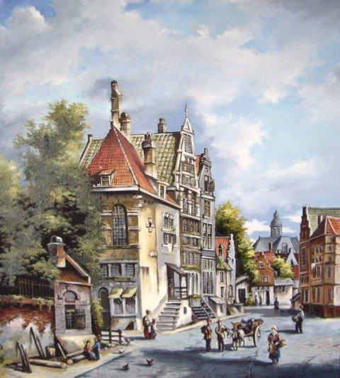 Голландские пейзажи 17-го века.-1
