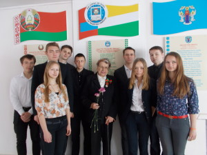 Нелли Ивановна с учениками лицея