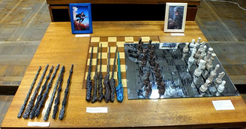 шахматы, волшебные палочки, бузинная палочка