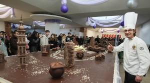 Праздник шоколада во Львове (Украина)
