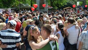 Самый массовый поцелуй в Праге