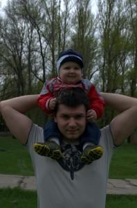 Е.Твердохлеб с сыном