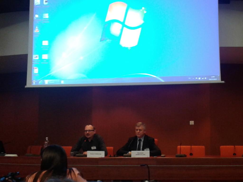 Андрей Курейчик показал «ГараШ» на Всемирном форуме за демократию