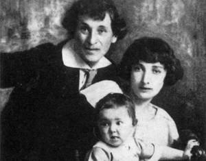 Марк Шагал с женой и дочерью, 1924