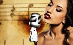 girl-brunette-microphone-makeup-lips-background-2880x1800