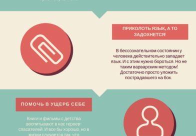 10 опасных заблуждений о первой медицинской помощи (инфографика)
