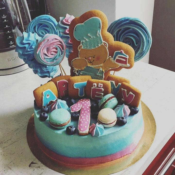праздничный торт ко дню рождения