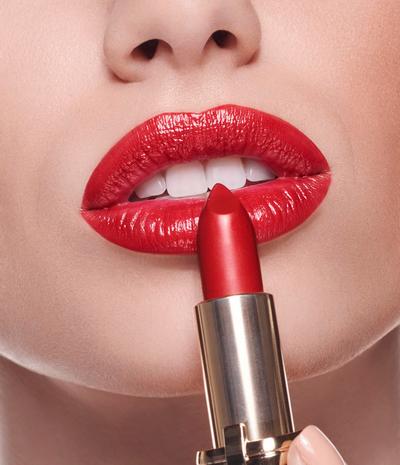 губы, помада, красный