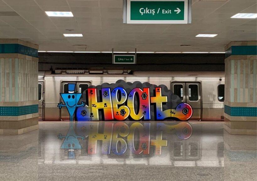 Граффити в метро